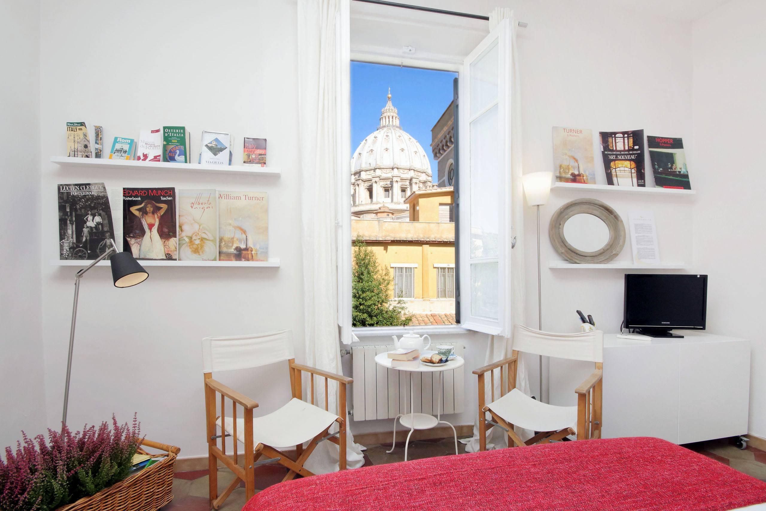 Casa vacanze a Roma con vista sulla cupola di San Pietro